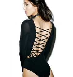 The Jetset Diaries Novella Lace-Up Bodysuit
