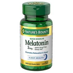 Nature's Bounty Melatonin 3 mg Dietary Supplement Tablets - 240 ea