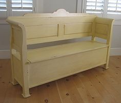 hudson bench from bradshaw kirchofer - perfect for an entryway