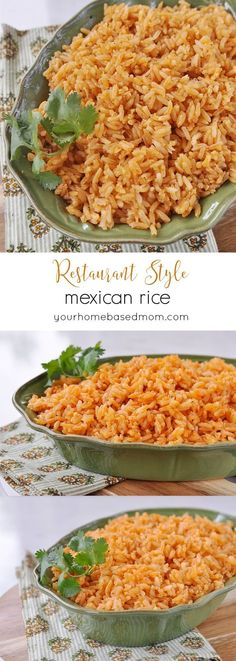 Rice Restaurant Style Mexican Rice - my kids thought it was better than what we usually get in the restaurant!Restaurant Style Mexican Rice - my kids thought it was better than what we usually get in the restaurant! Authentic Mexican Recipes, Mexican Rice Recipes, Mexican Drinks, Healthy Mexican Rice, Mexican Desserts, Mexican Chicken And Rice, Mexican Dinners, Side Dish Recipes, Pasta Recipes