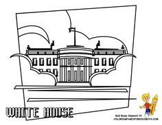 coloring pages washington dc white house coloring page