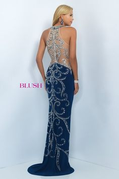 Prom 2016: Blush Style 11039- Navy/ Gold/ Silver