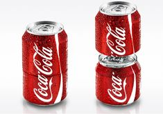 The Coke Social Can is a package that splits in two cans for easy sharing. Ad agency Ogilvy & Mather built an advertisement around the unusual can.