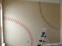 In case the love of baseball comes around Wall of the garage/large shed where sports equipment/outdoor toys are kept
