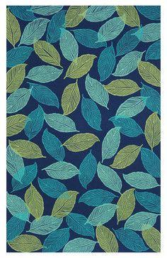 Liora Manne Mystic Leaf Navy Area Rug contemporary doormats