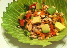 Thai peanut chicken lettuce wraps #healthy #yum #detox