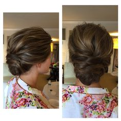 Lauren Conrad inspired updo for a bridesmaid today :)