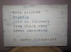 NEW wooden sign F. Scott Fitzgerald quote