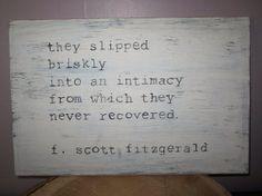 NEW wooden sign F. Scott Fitzgerald quote