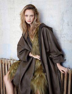 """""""Armée de luxe"""" Madame Figaro France by Magnus & Mads - Prada Fall 2014 dress; Hermès cape"""