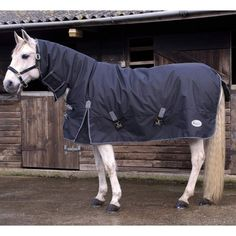 Rhinegold Storm Medium Weight Waterproof Turnout Rug Neck Cover Included 60