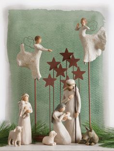 The official website of Willow Tree® by Susan Lordi. View, experience, discover, and shop the entire Willow Tree line. Willow Tree Nativity, Christmas Nativity Scene, Noel Christmas, Christmas Crafts, Christmas Decorations, Christmas Ornaments, Nativity Sets, Xmas, Navity Scene