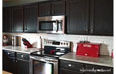 before–dark kitchen cabinets