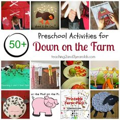 50+ Farm Activities for Preschoolers. Perfect for a farm unit!