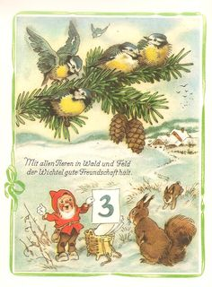 Fritz Baumgarten (1883 – 1966) German illustrator - Advent Calendar