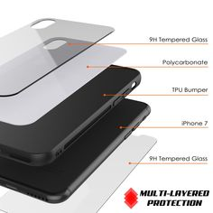 iPhone X Case, Punkcase GlassShield Ultra Thin Protective 9H Full Body Tempered Glass Cover W/ Drop Protection & Non Slip Grip for Apple iPhone 10 [White]      ★ PUNKCASE iPHONE X GlassShield: Minimalist & Stylish Dual Layer 9H Tempered Glass Case with additional TPU and PC layer.