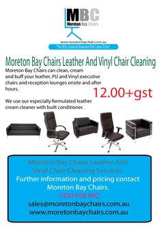 MORETON BAY CHAIRS LEATHER AND VINYL CHAIR AND LOUNGE CLEANING SERVICES.