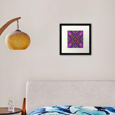 """Geometric Stain Glass Star"" Framed Art Print by Pultzar   Redbubble"