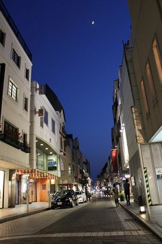 Motomachi shopping street, Yokohama, evening, may 2012