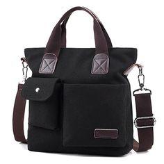 Mfeo Unisex Vintage Canvas Big Messenger Shoulder Bag Laptop Bag Cross-body Bag * Click image to review more details. (This is an Amazon Affiliate link)