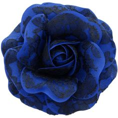 Sara Monica, Hair Flower Clip and Brooch Pin Black Lace Rose Made in... ($23) ❤ liked on Polyvore featuring jewelry, brooches, pin brooch, rose jewellery, royal blue jewelry, rose jewelry and flower broach