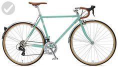 Retrospec Bicycles Kinney 14-Speed Vintage Hybrid Diamond Drop-Bar Frame Bicycle, Celeste, 61cm/X-Large - Useful things for bikers (*Amazon Partner-Link)