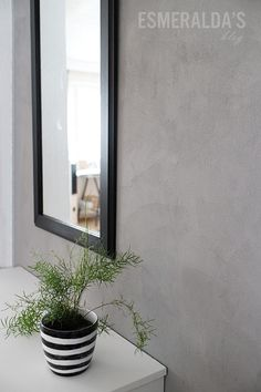 Concrete looking wall Interior Walls, Interior Design, Scandinavian Style Home, Little Houses, Wood Paneling, Wall Tiles, Cement, Concrete, Beautiful Homes