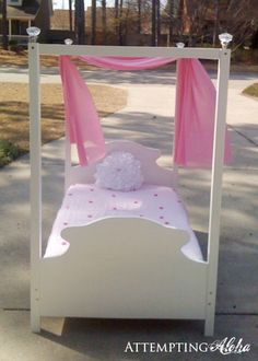 Attempting Aloha: How to Make a Toddler Canopy Bed -- Tutorial