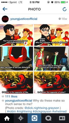 """Sentence Examples of words from the """"Dicktionary"""" <<< or as me and my friend call it Robin Latin Young Justice Funny, Young Justice Robin, Young Justice League, Nightwing, Batwoman, Wally West, Im Batman, Dc Memes, Batman Family"""