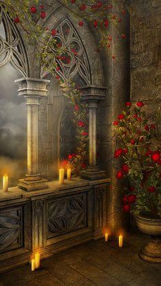 ~ Katarina ~ Q, Fantasy Background, Studio Background Images, Photo Background Images, Photo Backgrounds, Wallpaper Backgrounds, Gothic Background, Gothic Wallpaper, Scenery Wallpaper, Fantasy Landscape