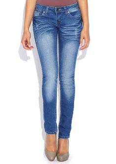 VIP JEANS Medium Wash Washed Skinny Jean