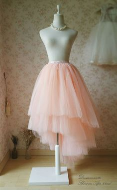 Tiered Tutu Skirt Adult Tutu Skirt Blush pink bridal skirt blush pink maxi skirt high low tulle skirt wedding bridesmaid tulle skirt which featured with many different length layers especial for wedding party bridal shower photo prop . Diy Robe Tulle, Blush Tulle Skirt, Diy Tutu Skirt, Tulle Skirt Tutorial, Tulle Skirt Bridesmaid, Diy Dress, Tulle Dress, Pink Maxi, Tulle Skirts