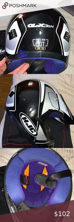 HJC Helmets CS-R3 Unisex-Adult Full Face Spike Motorcycle Helmet Black//Blue, Large