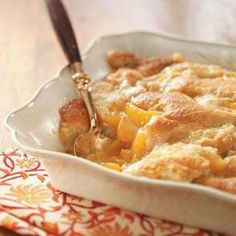Weight Watchers Easy Peach Cobbler.