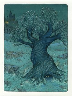 The Whomping Willow from Harry Potter. I would so have this framed in my home....