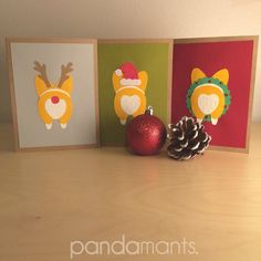 My friend is super talented. GO BUY THESE ADORABLE LITTLE GUYS!!! <3 #Corgi Buns #HOLIDAY Greeting Card Set Handmade to by Pandamants