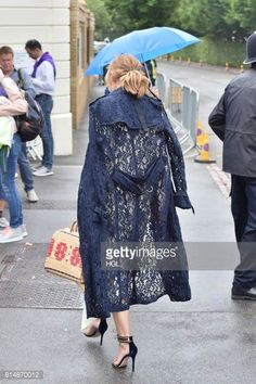 Olivia Palermo seen arriving for day twelve at The Championships at Wimbledon on July 15 2017 in London England