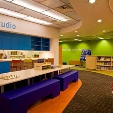 Waukegan Public Library interior.