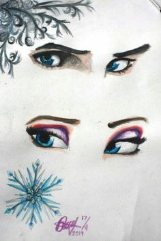Jack frost and Elsa's eyes :3
