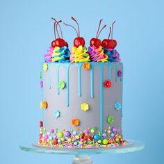Beautiful Birthday Cakes, Cool Birthday Cakes, Beautiful Cakes, Amazing Cakes, Cake Decorating For Beginners, Cake Decorating Tips, Mini Cakes, Cupcake Cakes, Cupcakes