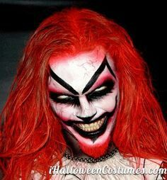 Evil clown makeup