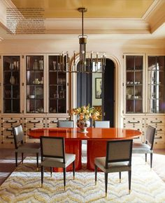 Manhattan dining room by Steven Gambrel.
