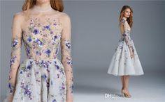 Klänningar Dam Bekväm Sommar Blommor Elegant Eleganta Trend Blå
