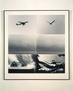 John Baldessari, Concerning Diachronic/Synchronic Time: Above, On, Under (with Mermaid), 1976 John Baldessari, Social Art, Muse Art, David Hockney, Unique Words, Land Art, Photomontage, Art Boards, Collage Art