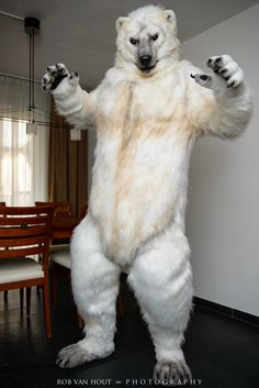 """allthefursuits: """" Garrodor in their awesome polar bear suit made by ClockworkCreature! Photo by Rob Van Hout Photography. """""""