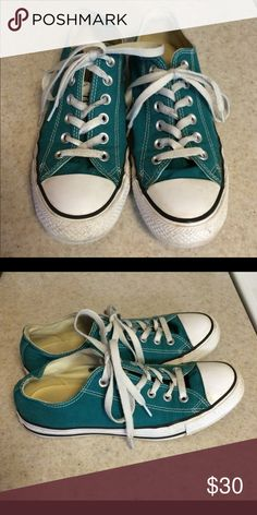 Converse shoes, like new Teal green Converse Shoes Sneakers