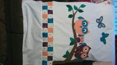 Owl quilt before quilting