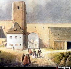 Turn construit in secolul 14 (parte din al treilea cordon de fortificatii ce apara Orasul de Sus). A fost demolat in anul 1854 impreuna cu majoritatea fortificatiilor Sibiului. Poarta ce se afla langa turn a fost creata la sfarsitul secolul al 18-lea pentru a inlesni traficul. Painting, Google, Painting Art, Paintings, Drawings