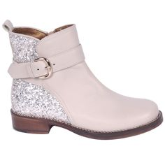 Girls Gold And Beige Boot
