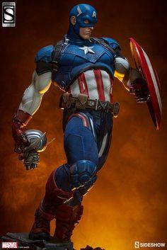 Marvel Captain America Premium Format(TM) Figure by Sideshow Marvel Dc, Marvel Comics, Marvel Heroes, Marvel Characters, Capitan America Marvel, Captain America Art, Marvel Statues, Univers Dc, Custom Action Figures
